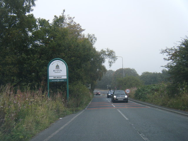 Scout Road at Blackburn & Darwen boundary
