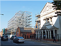 SK5804 : Construction on Oxford Street in Leicester by Mat Fascione