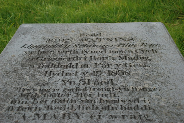 Bedd John Watkins - The grave of John Watkins