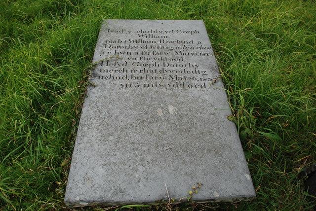 Carreg fedd drist - A sad gravestone