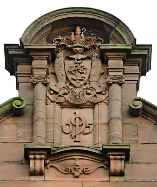 Glasgow Coat of Arms date stone