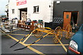 Q9303 : New and used furniture and a carriage for sale by the N22 at Farranfore by Chris