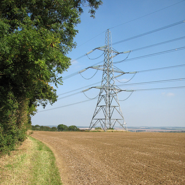 A pylon by the Icknield Way Path