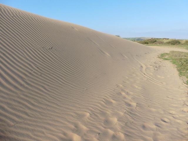 Huge sand dune on Braunton Burrows