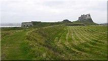 NU1341 : Waggonway and kilns by Richard Webb