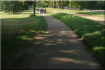 TQ2780 : View along the path by N Carriage Drive in Hyde Park by Robert Lamb