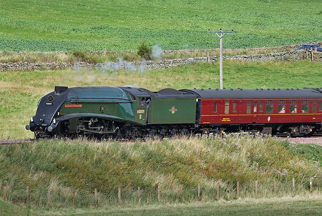 A steam special on the Borders Railway near Ferniehirst
