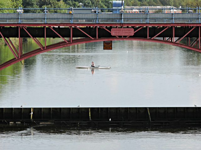 Rower at Glasgow Green