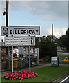 TQ6594 : Billericay Town Name sign by Adrian Cable