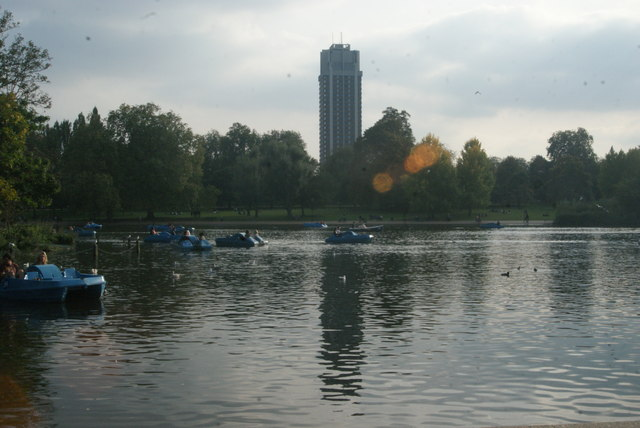 View of Hyde Park Barracks from the path by the Serpentine #6