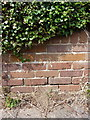 SJ6904 : OS benchmark - Madeley, wall on Station Road by Richard Law
