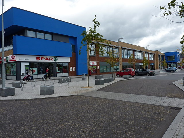 Newly-built town centre facilities in Kingshurst