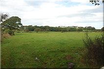 SH3435 : Tir amaethyddol ger Rhyllech - Farmland near Rhyllech by Alan Fryer