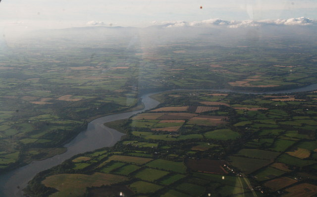 River Slaney from Wexford to The Deeps: aerial 2015