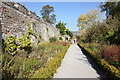 SJ1258 : Castle Wall and Garden, Ruthin by Jeff Buck