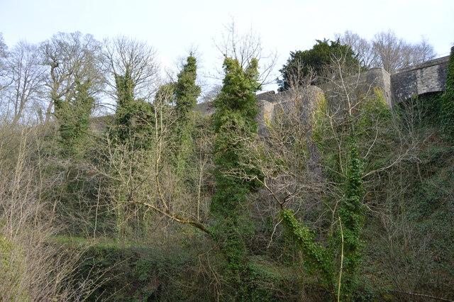 Wall of Skipton Castle