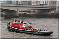 "TQ3280 : Tug Assisting the Paddle Steamer ""Waverley"" near London Bridge by Christine Matthews"