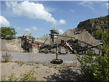 SK3455 : Quarry seen from a tram by Chris Allen