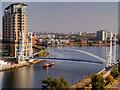 SJ8097 : Passing Under the Lowry Bridge by David Dixon