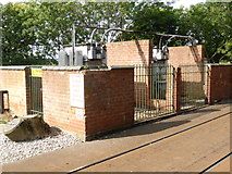 SK3455 : Crich Tramway Village - substation by Chris Allen