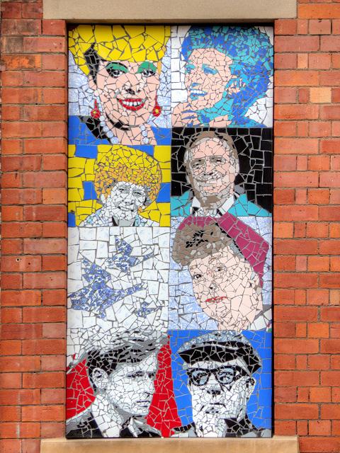 Coronation Street Tile Mosaic on Tib Street