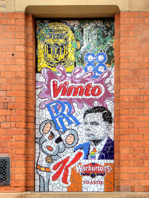 Manchester Icons in Tile Mosaic