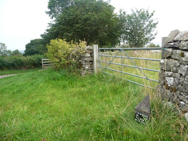Township boundary post, near Celleron [south side]