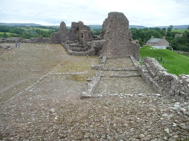 The southern range of buildings, Brough Castle