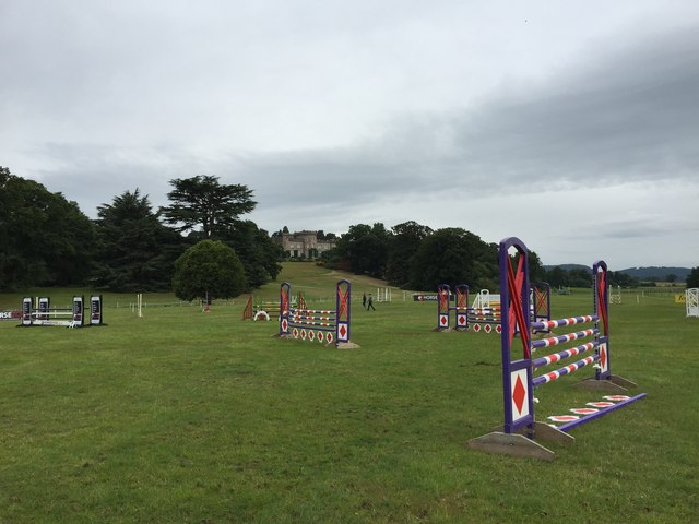 Cholmondeley Castle Horse Trials: showjumping arena