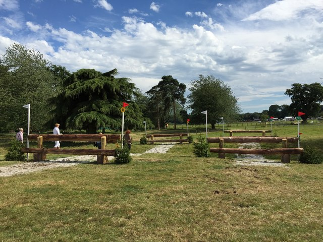 Cholmondeley Castle Horse Trials: Rails on cross-country course