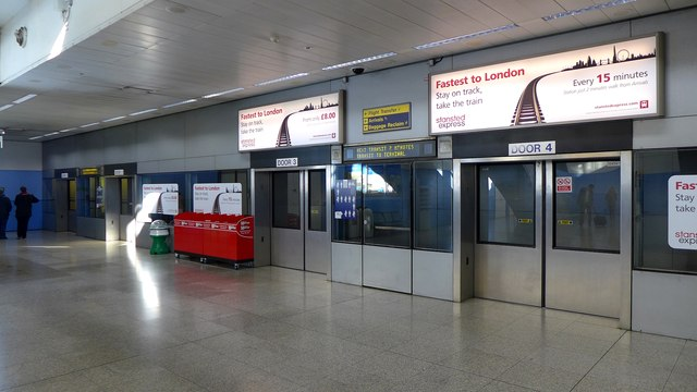 Stansted Airport - monorail station