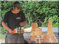 """SP9210 : A demonstration of wood carving with a chain saw at """"Fun in the Park"""" by Chris Reynolds"""