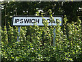 TM1762 : Ipswich Road sign by Geographer