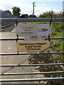 TM1762 : Debenham Primary Electricity Sub-Station sign by Adrian Cable