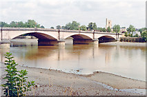 TQ2475 : Putney Bridge, 1991 by Ben Brooksbank