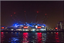 TQ3980 : O2 Centre, Greenwich, at Night by Christine Matthews