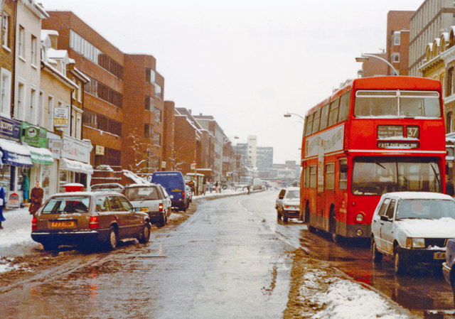 Putney in depth of winter, 1991