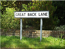 TM1763 : Great Back Lane sign by Adrian Cable