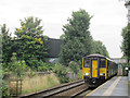 SE2434 : Bramley station, with arriving train by Stephen Craven