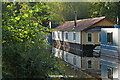 TQ0461 : Houseboat, Basingstoke Canal by Alan Hunt