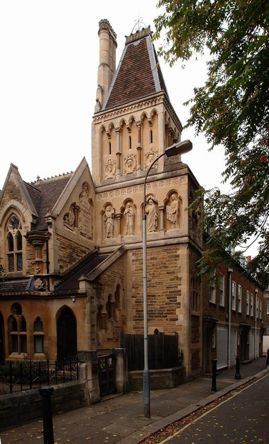 Tower, Sir William Powell's Almshouses, Church Gate, Fulham