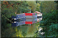 TQ0461 : Houseboats, Basingstoke Canal by Alan Hunt