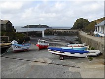 SW6617 : Boats in Mullion Cove by David Smith