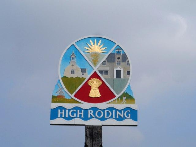 Village sign, High Roding