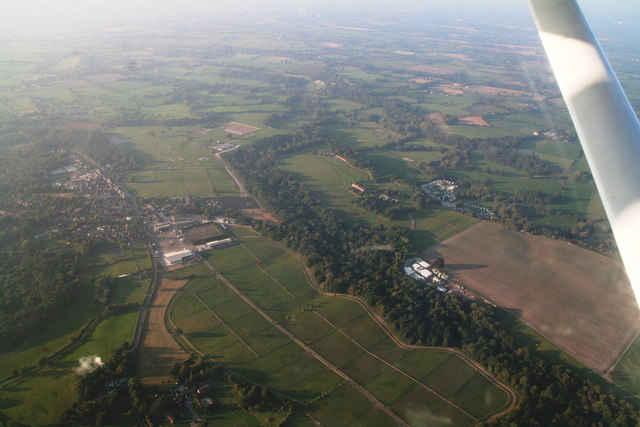 Somerford Park Farm equestrian centre: aerial 2015