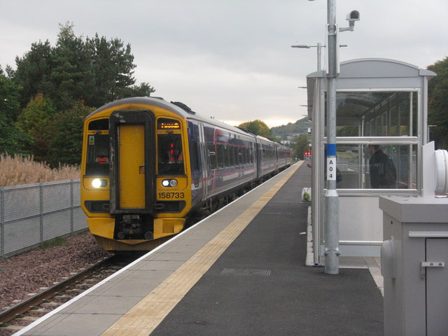The train arriving at Platform 1....