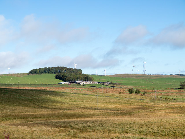 Moorland on east side of A68 near to Cowden