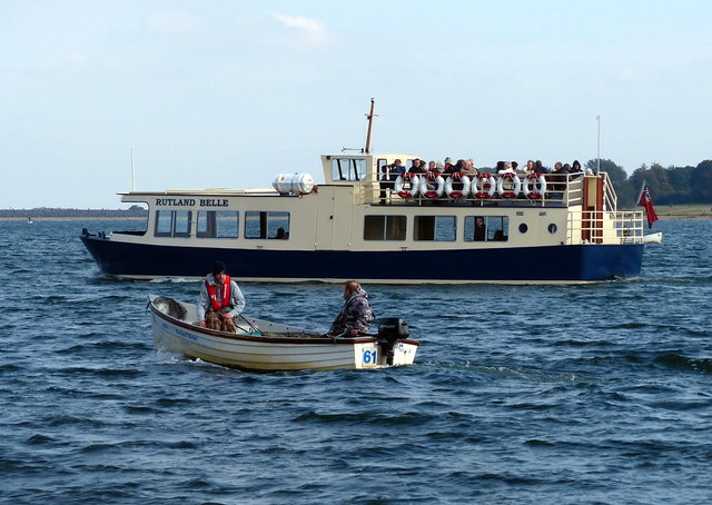 The Rutland Belle and fishing boat