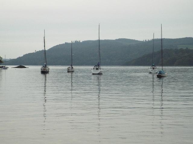 Yachts on Lake Windermere