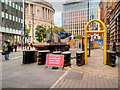 SJ8397 : Security Barriers on Peter Street by David Dixon